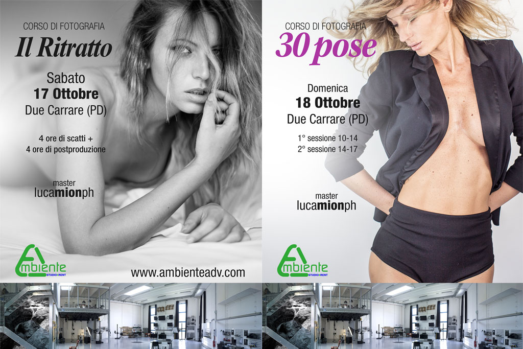 workshop luca mion 30 pose glamour in Ambiente studio 4 rent